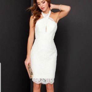 NWT KEEPSAKE the Label Lace Halter Backless dress
